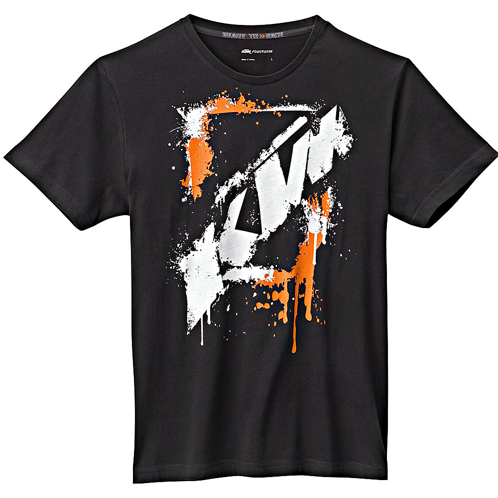 ktm herren t shirt big spray tee. Black Bedroom Furniture Sets. Home Design Ideas